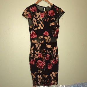 Floral Tight Dress